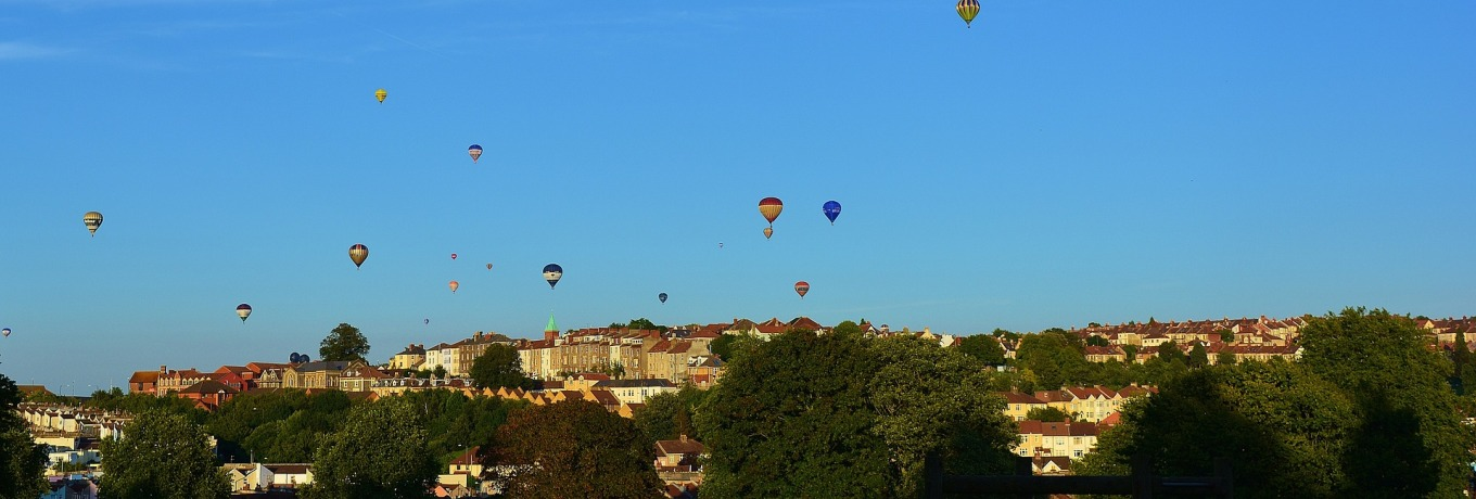 hot air balloons in Bristol