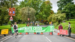 Weekend of Extinction Rebellion protests starts with bridge blocking